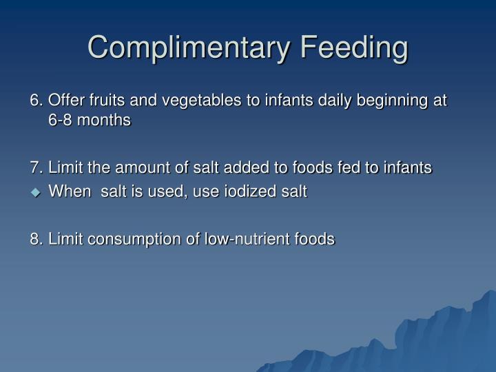 Complimentary Feeding