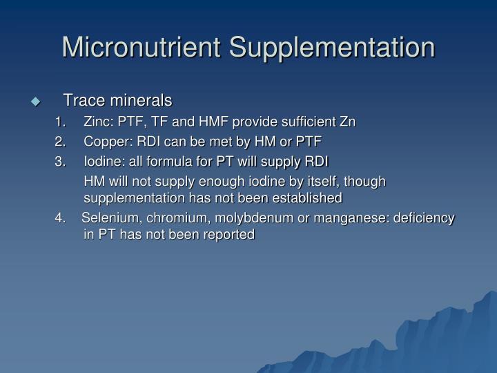Micronutrient Supplementation