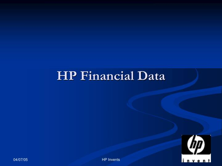 HP Financial Data