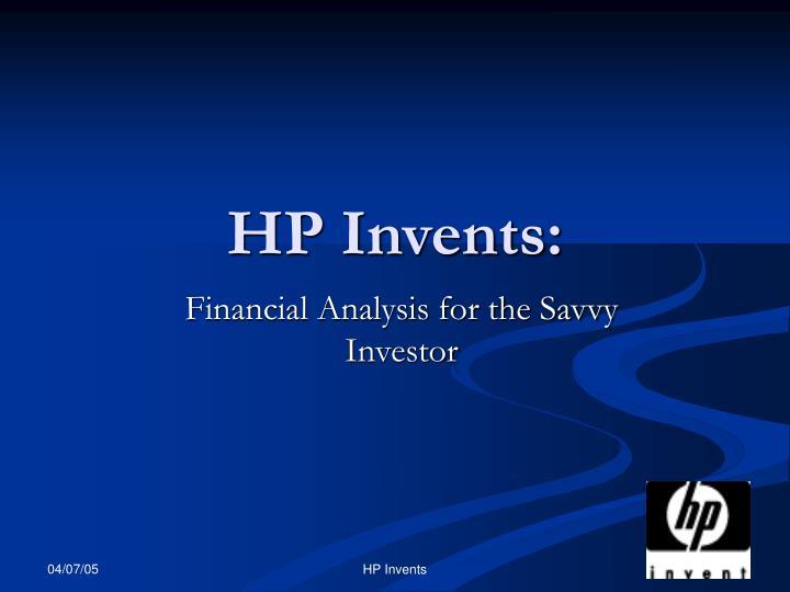 Hp invents