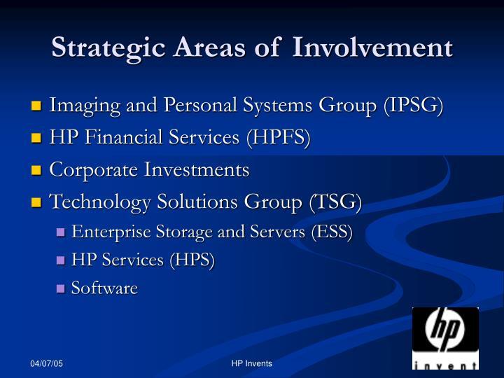 Strategic areas of involvement