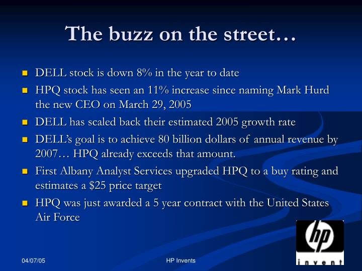 The buzz on the street…