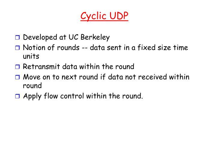 Cyclic UDP