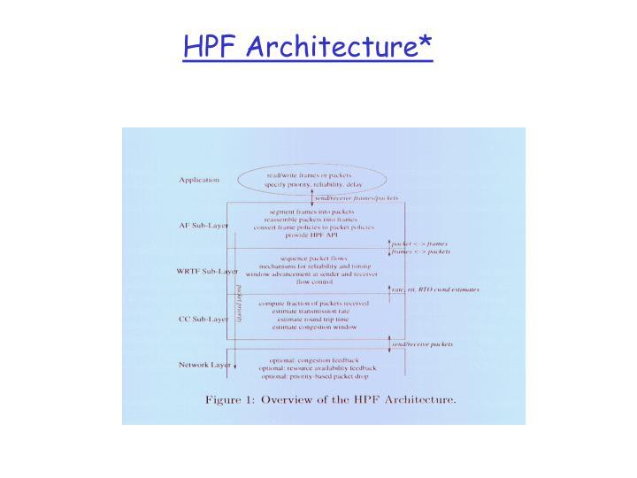 HPF Architecture*