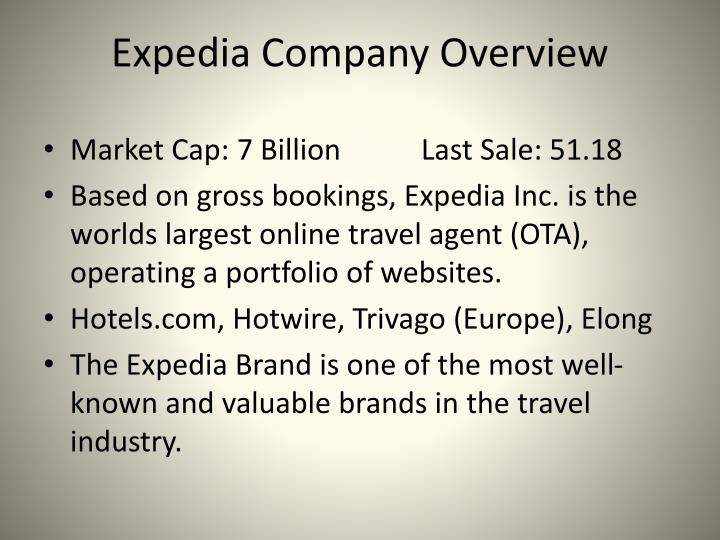 Expedia Company Overview