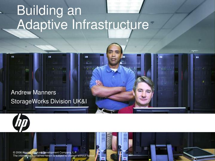 building an adaptive infrastructure n.