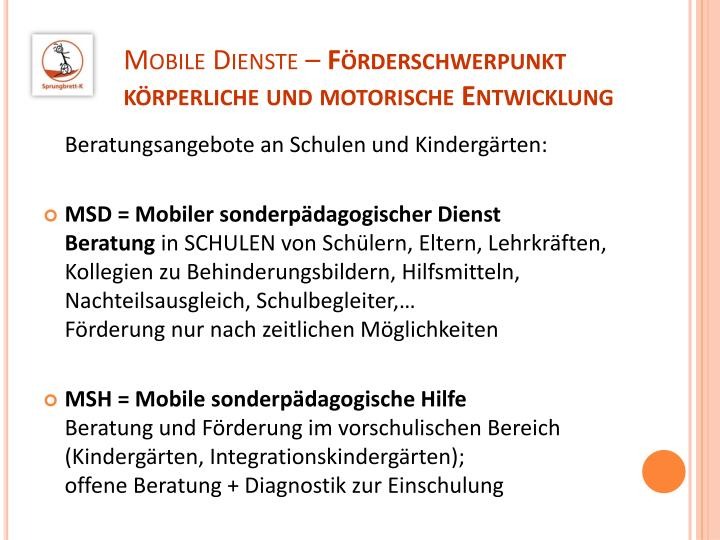 Mobile Dienste –