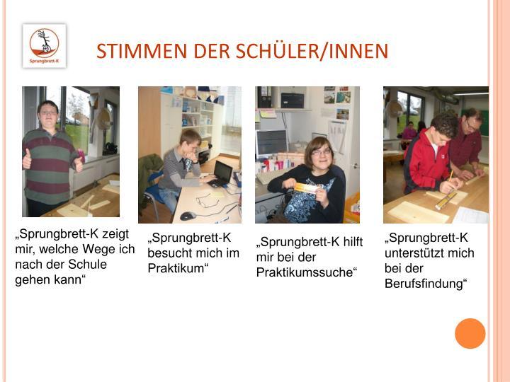 STIMMEN DER SCHÜLER/INNEN