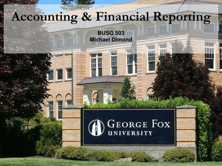 accounting financial reporting n.