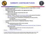 summary continuum fusion