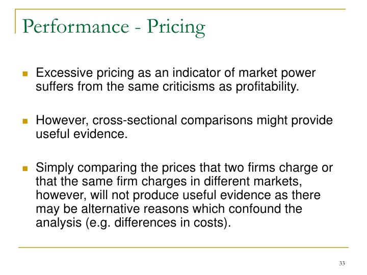 Performance - Pricing