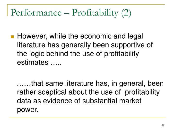 Performance – Profitability (2)