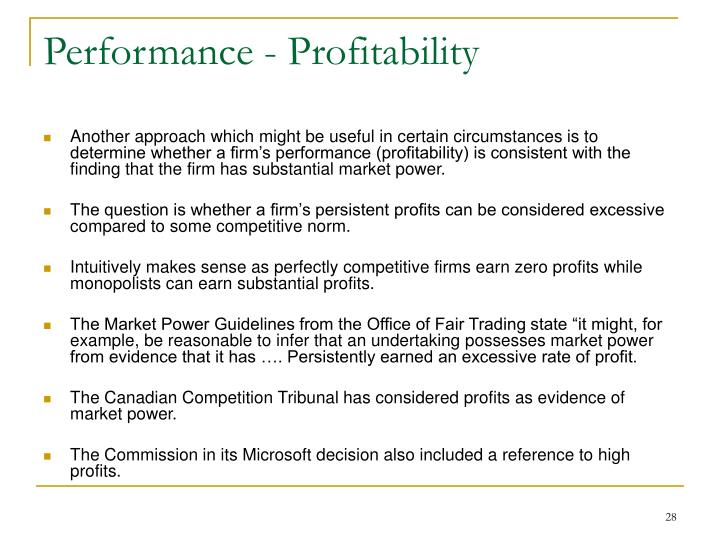 Performance - Profitability