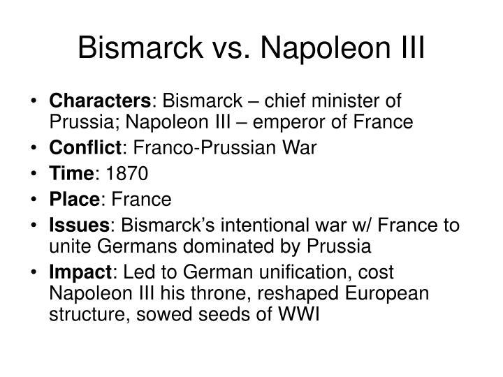 Bismarck vs. Napoleon III