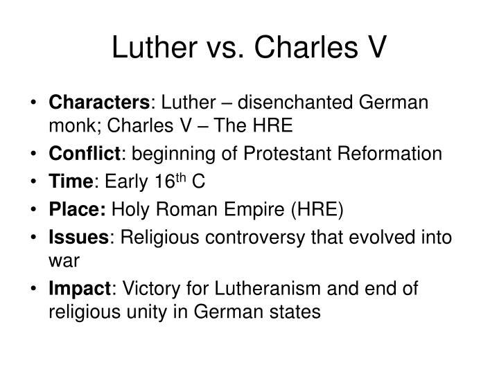 Luther vs charles v