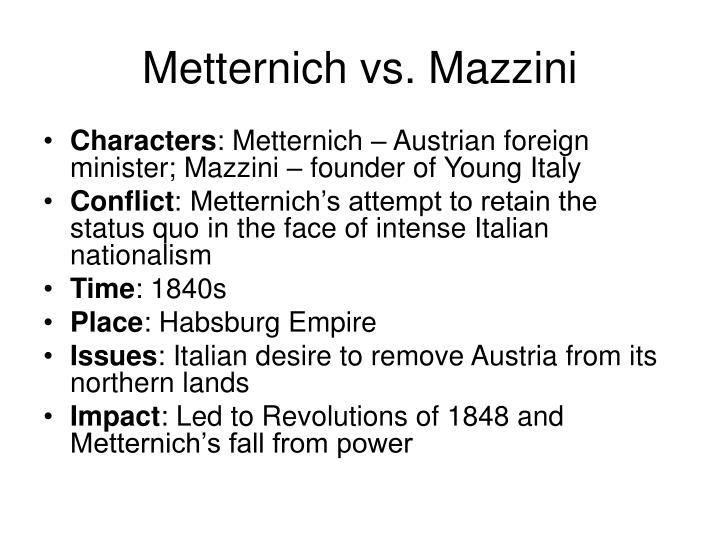 Metternich vs. Mazzini