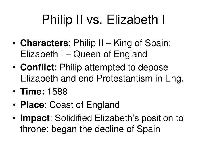 Philip II vs. Elizabeth I