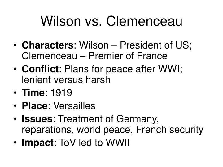 Wilson vs. Clemenceau