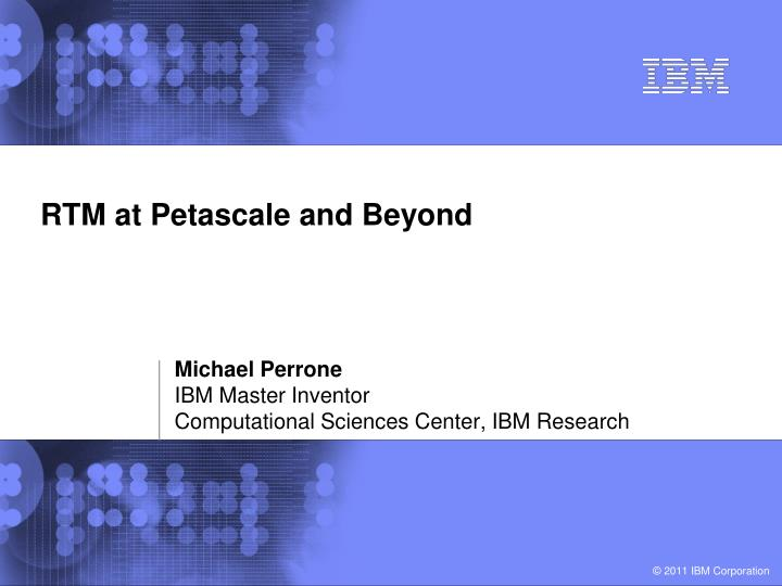 rtm at petascale and beyond n.