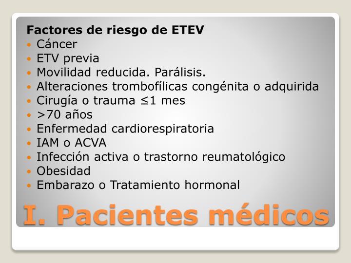 Factores de riesgo de ETEV