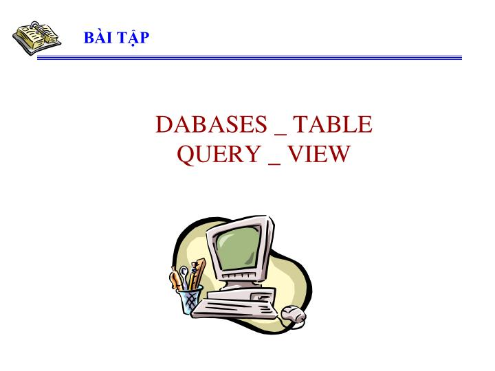 dabases table query view n.
