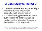a case study to test qfd