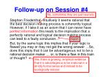 follow up on session 42