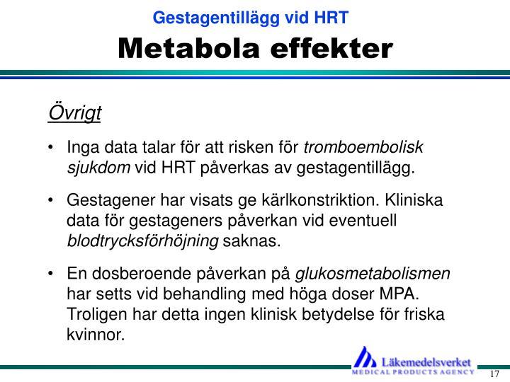 Metabola effekter
