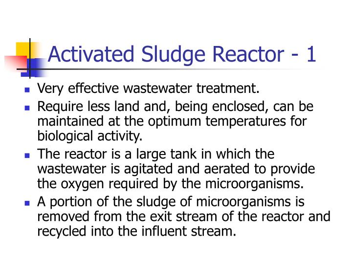 Activated Sludge Reactor - 1