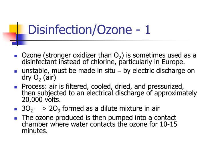 Disinfection/Ozone - 1