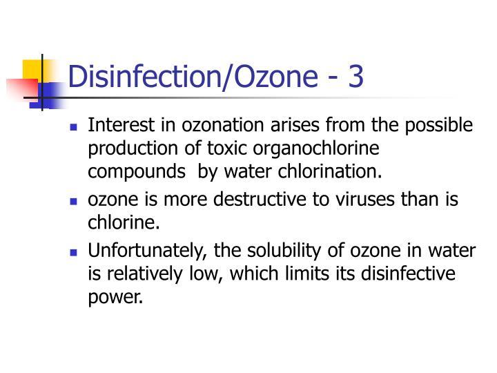 Disinfection/Ozone - 3