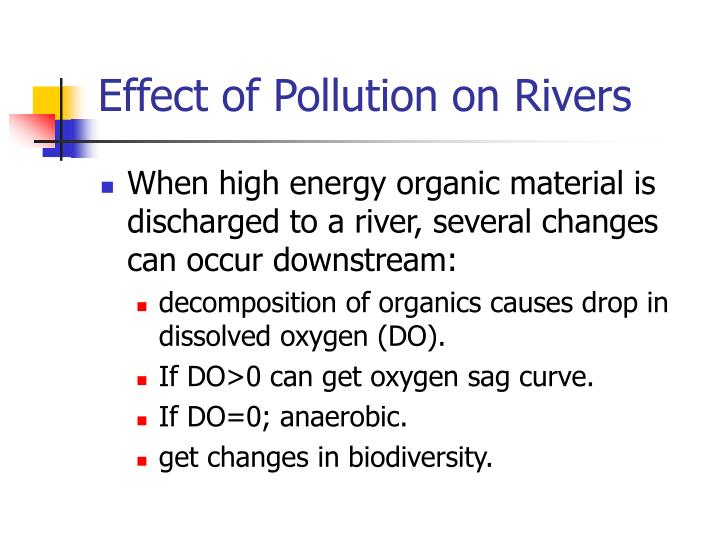 Effect of pollution on rivers