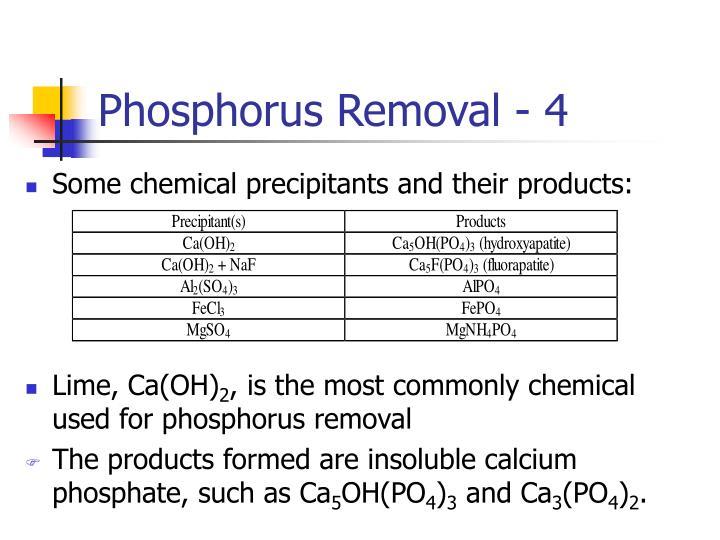 Phosphorus Removal - 4