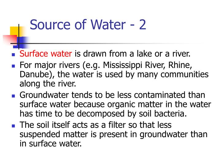 Source of Water - 2