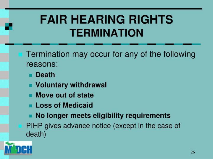 FAIR HEARING RIGHTS