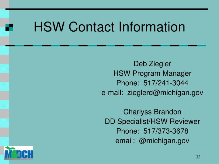 HSW Contact Information