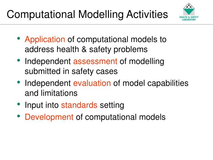 Computational modelling activities