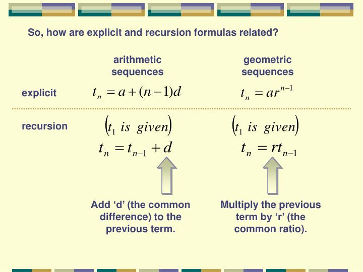 ppt  73  74 recursion formulas  creating rules to