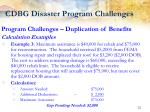 cdbg disaster program challenges7