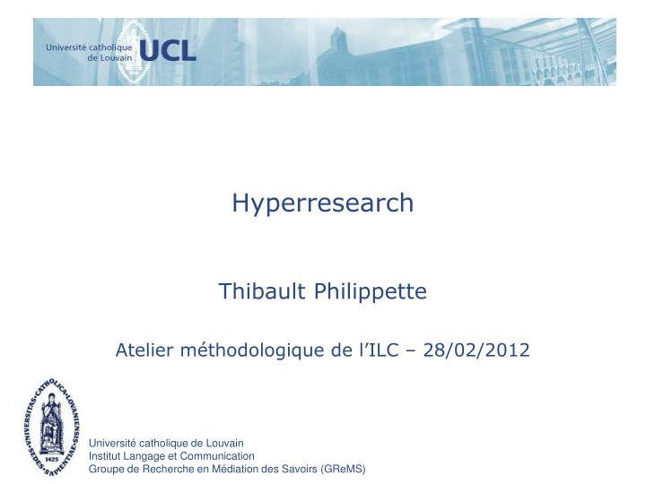 Hyperresearch