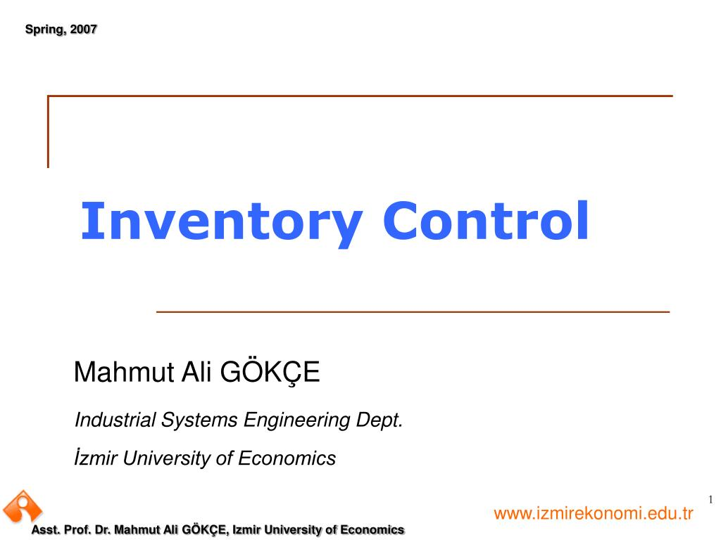 Ppt Inventory Control Powerpoint Presentation Free Download Id 3311773