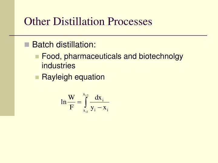 Other Distillation Processes