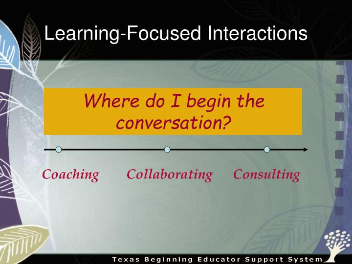 Coaching        Collaborating      Consulting