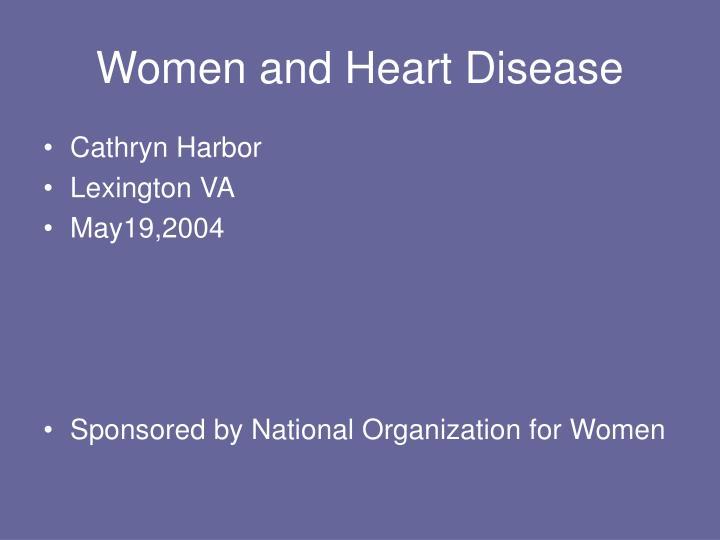 women and heart disease n.