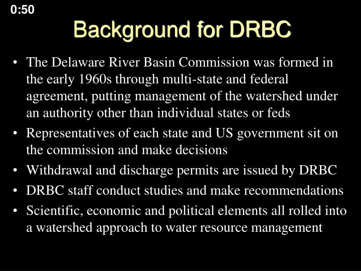 Background for drbc