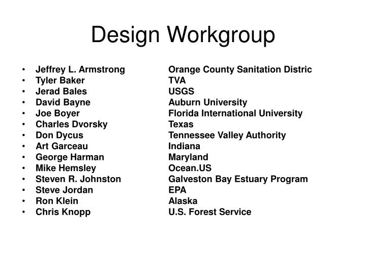 design workgroup