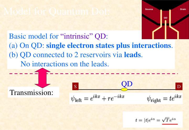 Model for Quantum Dot: