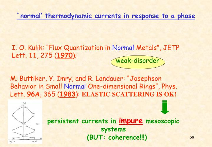 `normal' thermodynamic currents in response to a phase