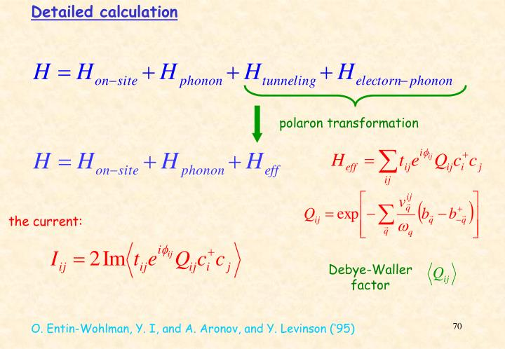 Detailed calculation