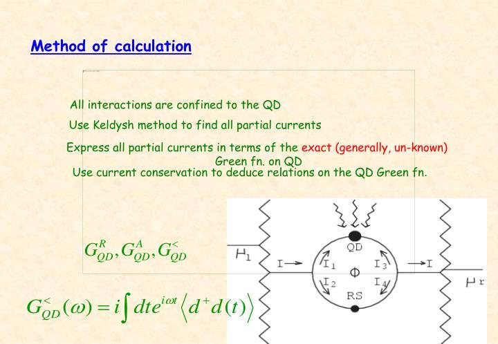 Method of calculation